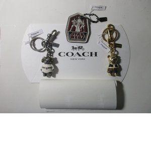 Star Wars X Coach Key Chains / Bag Charms Set of 3